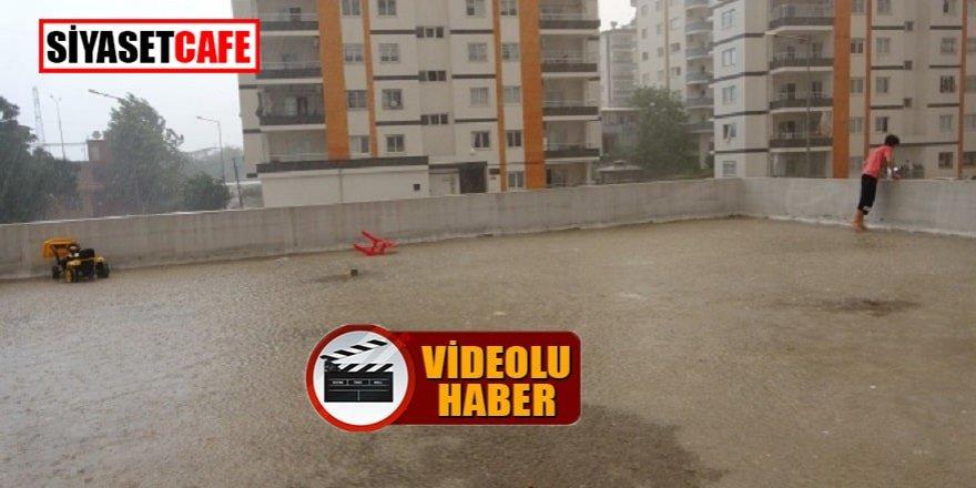 Adana Kozan'da şiddetli fırtına