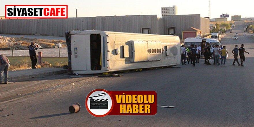 Karaman'da tırla servis otobüsü çarpıştı: 17 yaralı!