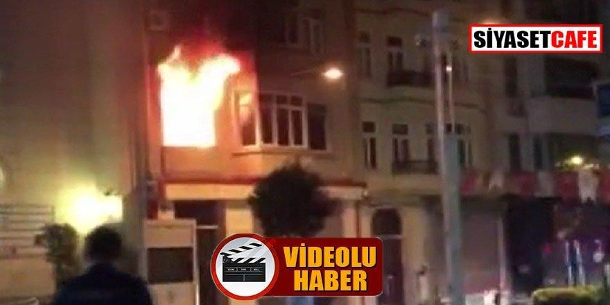 Kırgızistan konsolosluk binasında yangın çıktı