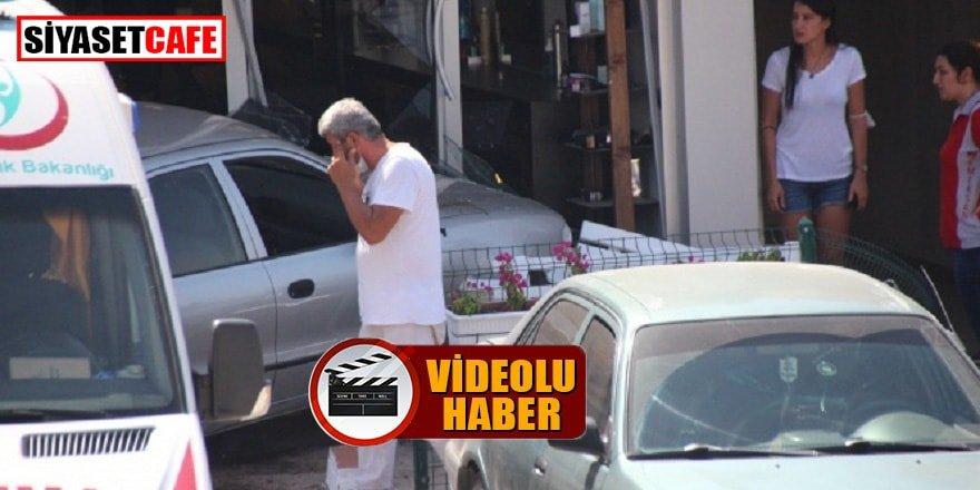 Sakar şoför Bodrum'da bir kuaförün dükkanına girdi