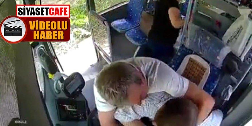 Maskesini takmayan kabadayı otobüs şoförüne saldırdı