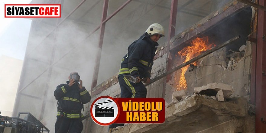 Antalya'da itfaiye ekibinin zorlu anları kameralarda