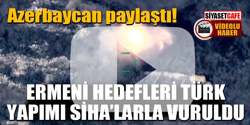 Azerbaycan paylaştı: Ermeni hedefleri Türk yapımı SİHA'larla vuruldu