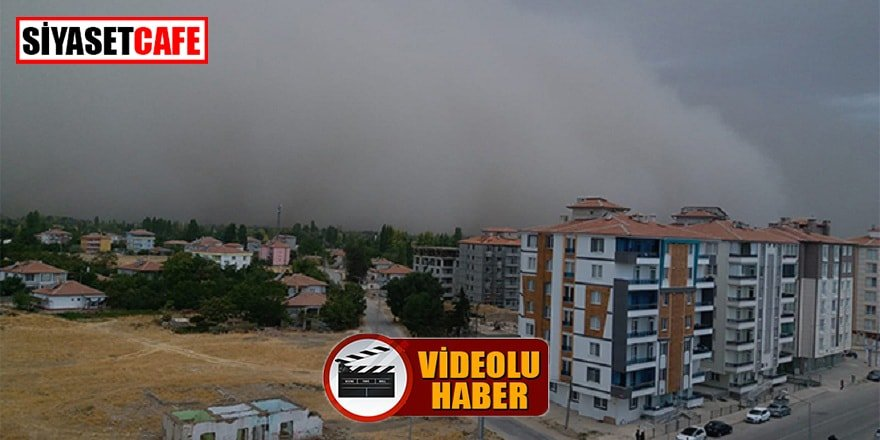 Dev toz bulutu Ankara'dan sonra Konya'da