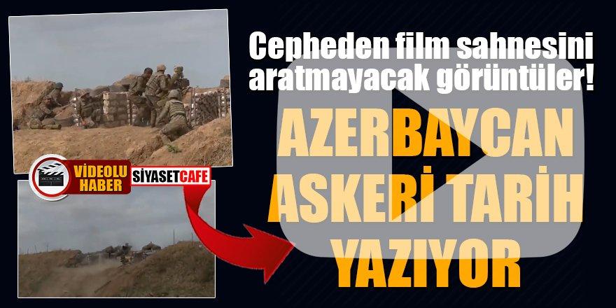 Cepheden film sahnesini aratmayacak görüntüler! Azerbaycan askeri tarih yazıyor
