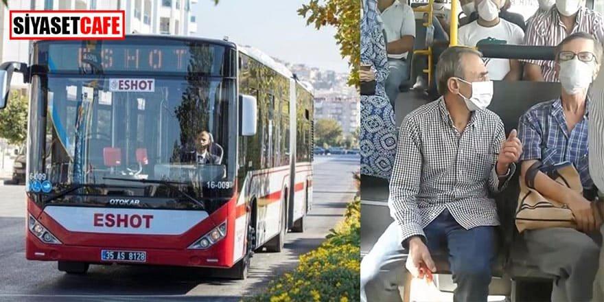 Otobüste sosyal mesafe kavgası