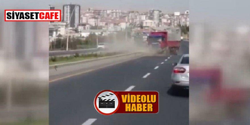 Ankara'da inanılmaz olay! Freni patlayan kamyon geri geri 2 km gitti