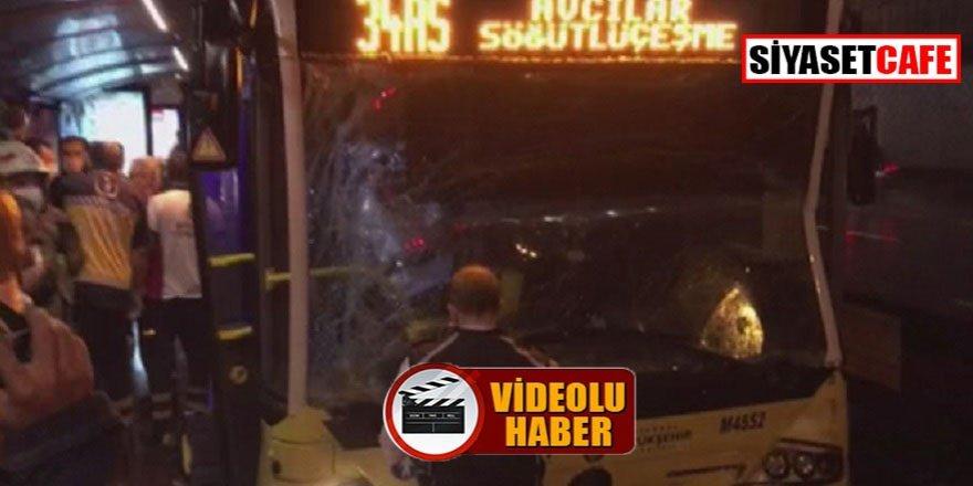 Merter'de metrobüs kazası: 7 yaralı!