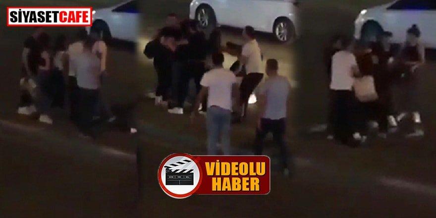 Kızların sokak ortasında kıskançlık kavgası