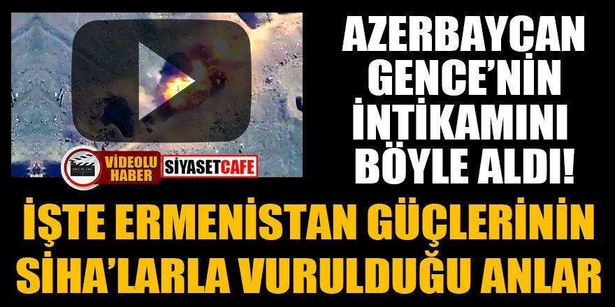 İşte Ermenistan güçlerinin SİHA'larla vurulduğu anlar
