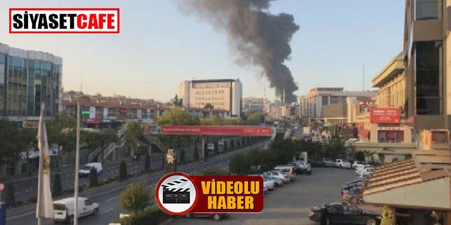 Başakşehir'de plastik fabrikasında yangın