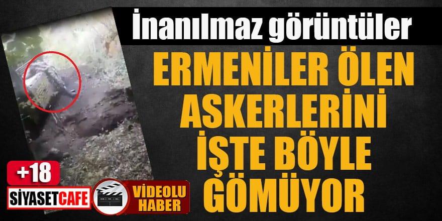 İnanılmaz görüntüler: Ermeniler askerlerini böyle gömüyor