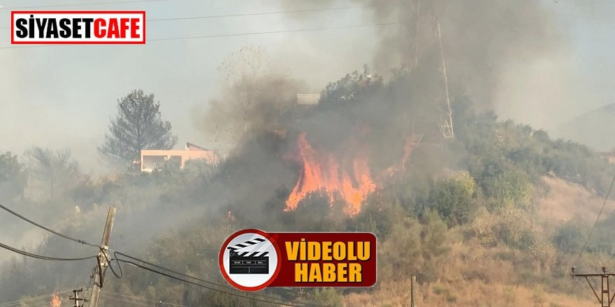 Hatay'da terör saldırısından sonra yangın paniği!