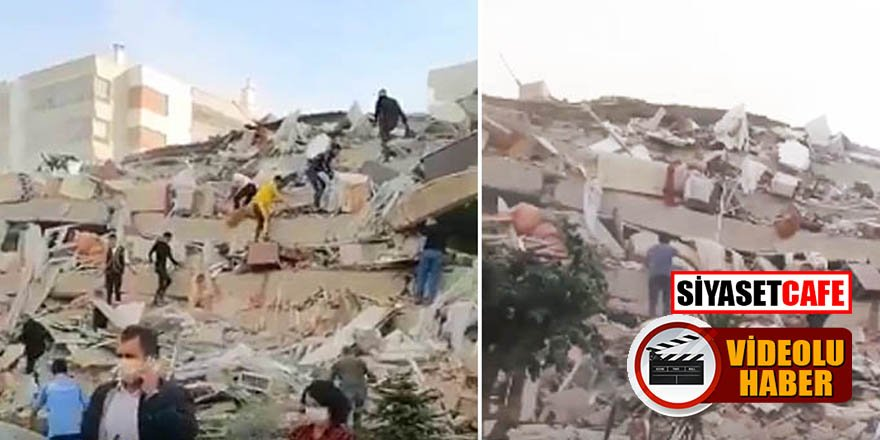 İzmir'de 6,8 şiddetinde deprem! Halk sokağa döküldü