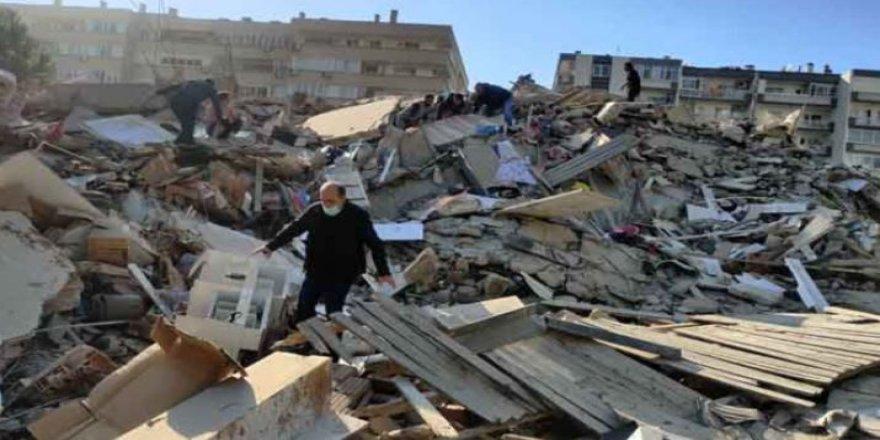 İzmir depreminin enkaz görüntüleri-Video-