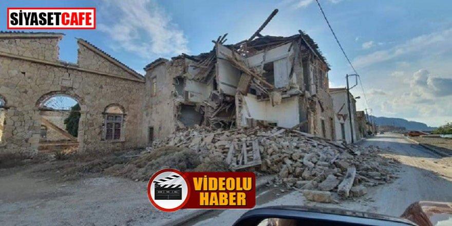 Depremin merkezi Sisam Adası böyle görüntülendi