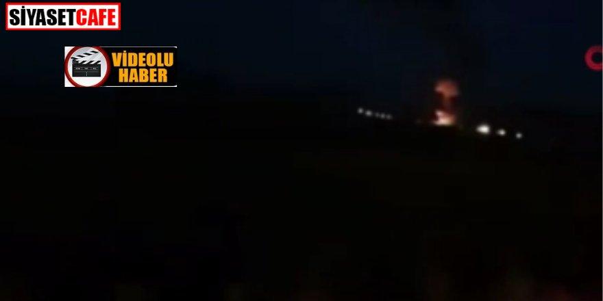 İşte Ermenistan'da vurulan Rus helikopterin düştüğü anlar