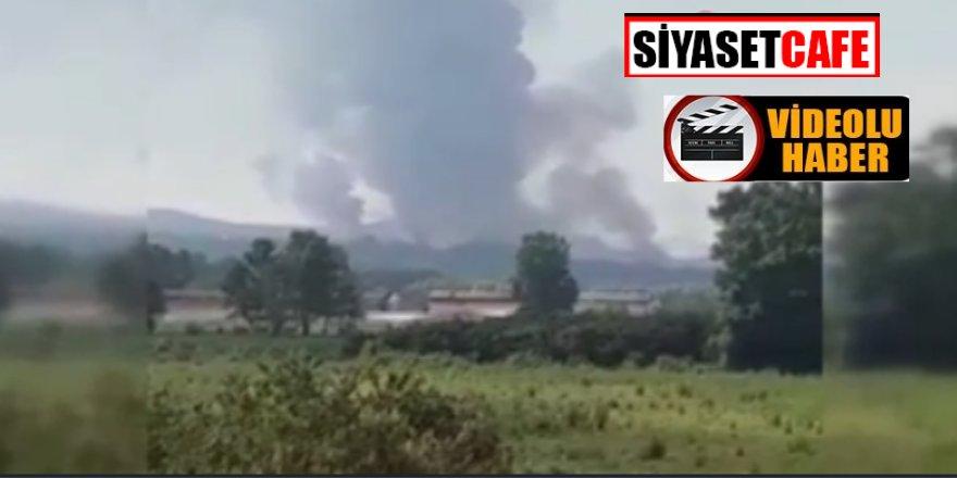 İşte Sakarya'daki havai fişek fabrikasında yaşanan patlamanın görüntüleri