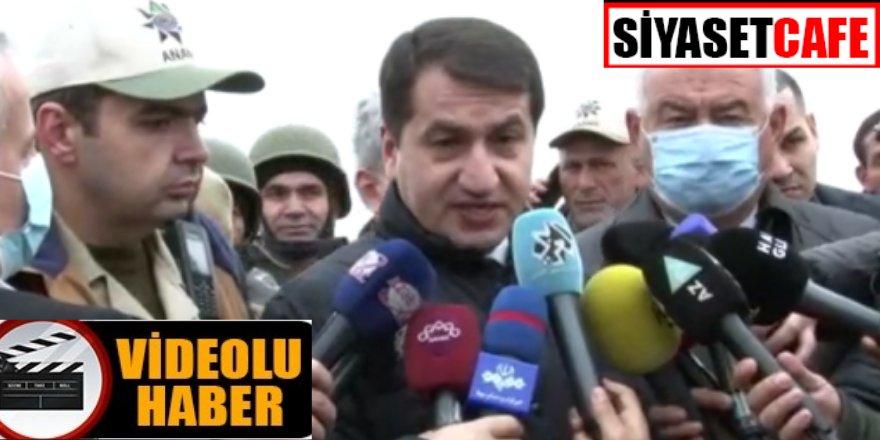 Azerbaycan Cumhurbaşkanı Yardımcısı Haciyev, işgalden kurtarılan Fuzuli kentinde