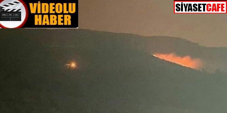 Hatay'da rüzgarlı havada orman yangını