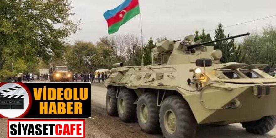 Azerbaycan ordusu 27 yıl aradan sonra, Ağdam'a giriş yaptı