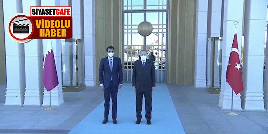 Katar Emiri'ne görkemli karşılama!