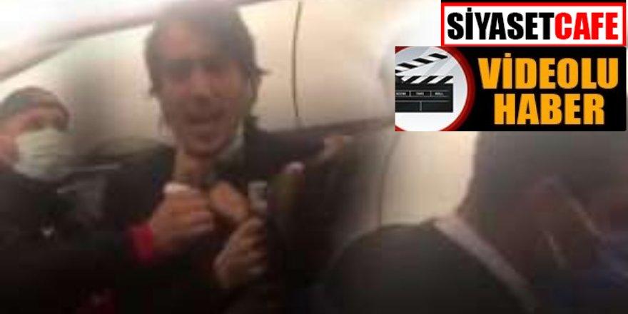 İzmir-Adana uçağında yolcular ve futbolcular birbirine girdi