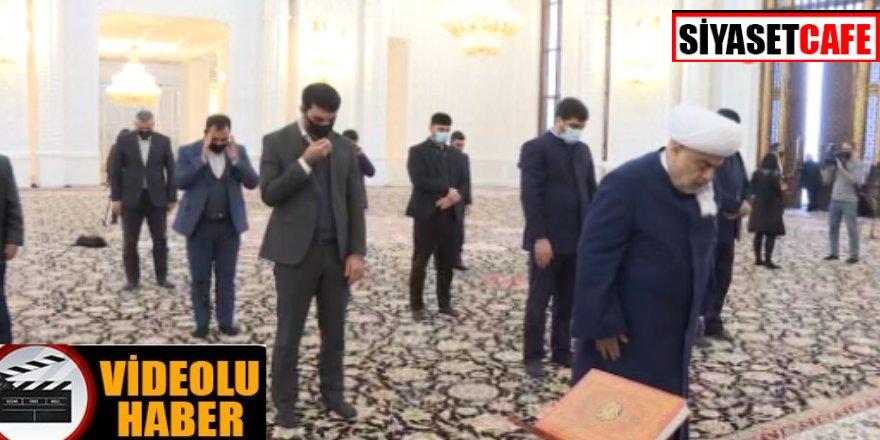 Karabağ'da şehit Azerbaycan askerleri için namaz kılındı