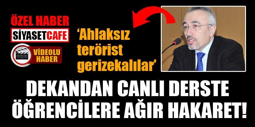 Prof. Dr. Enver Bozkurt'tan öğrencilere ağır hakaret!