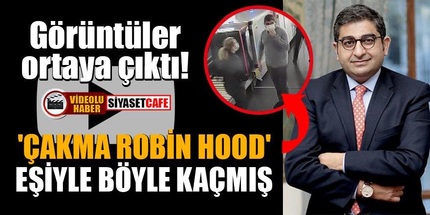 'Çakma Robin Hood' Sezgin Baran Korkmaz eşiyle böyle kaçmış