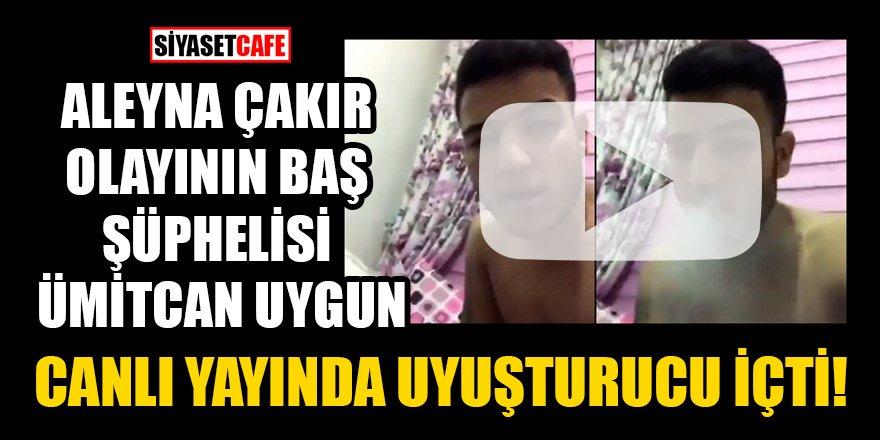 Ümitcan Uygun canlı yayında uyuşturucu içti