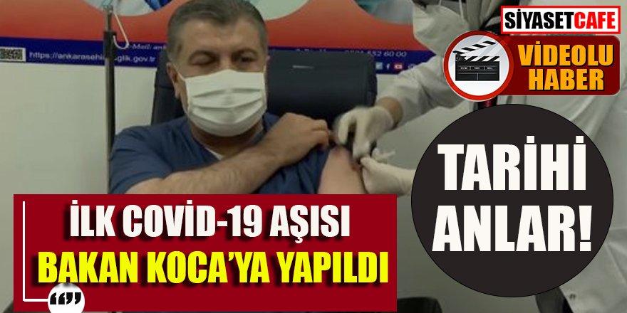 İlk koronavirüs aşısı Sağlık Bakanı Fahrettin Koca'ya yapıldı