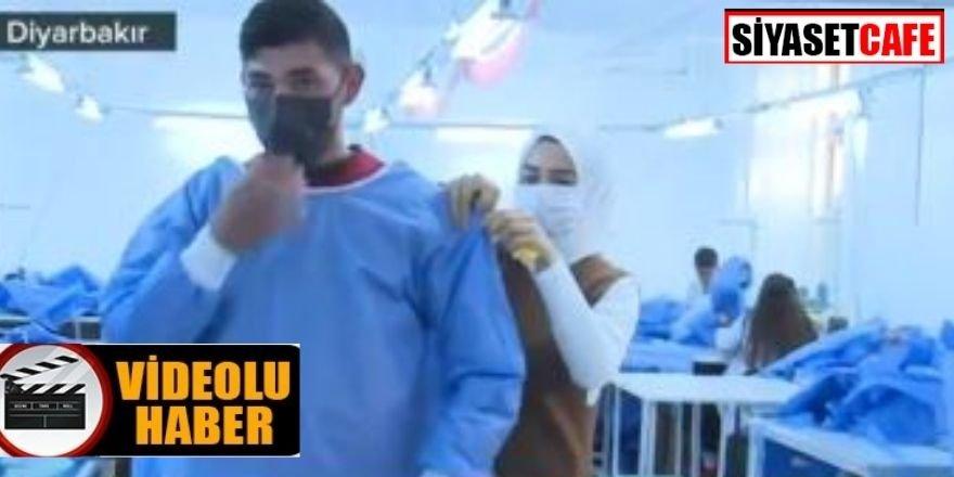 Diyarbakırlı öğrenciler İtalya'ya koruyucu kıyafet dikiyor
