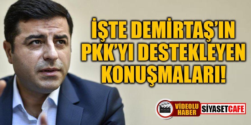 Demirtaş'ın PKK'yı destekleyen konuşmaları