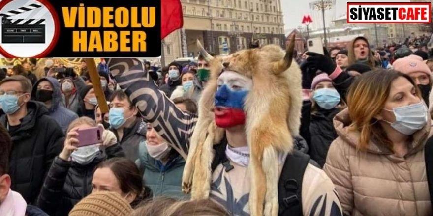 Rusya'daki protestolardan çok konuşulacak görüntüler