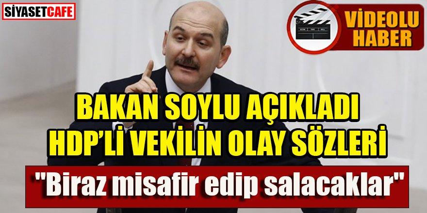 """Soylu: Gara'daki şehitlerimiz ilk kaçırıldığında HDP'li vekil """"Biraz misafir edip salacaklar"""" dedi"""
