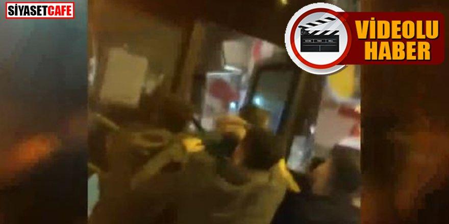 Esenyurt'ta iki İETT otobüsüne yumruklu tekmeli saldırı