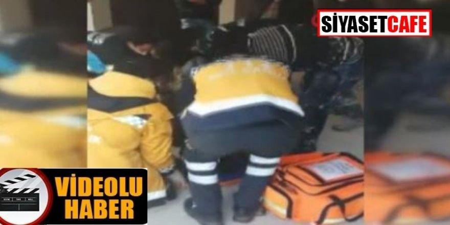Asansör boşluğuna düştü! Bir inşaat işçisi yaralandı