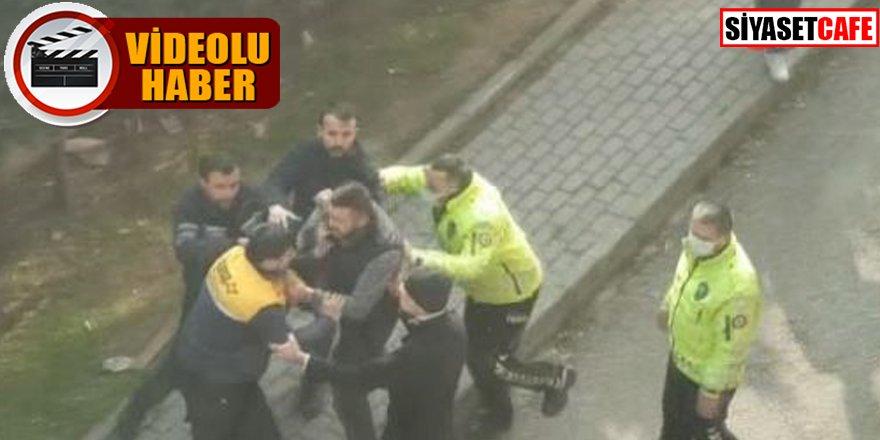 İki grup arasındaki park kavgasını polis ekipleri ayırdı