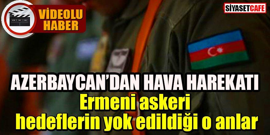 Azerbaycan Dağlık Karabağ'da Ermeni askeri hedeflerin yok edildiği anları yayınladı