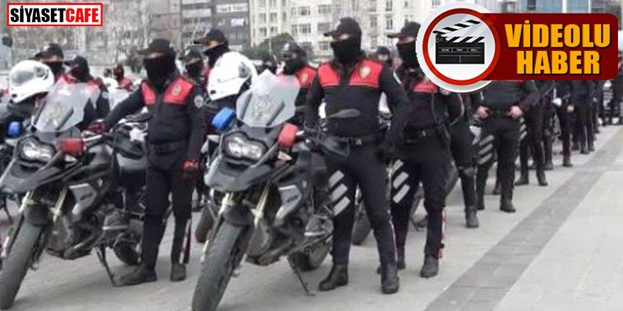 İstanbul polisinden Taksim'de gövde gösterisi