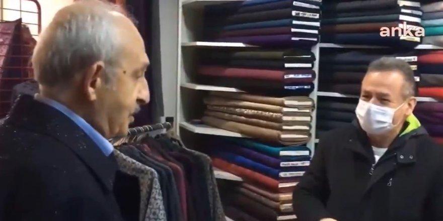 CHP Genel Başkanı Kemal Kılıçdaroğlu, Uşak'ta esnafın sorunlarını dinledi.