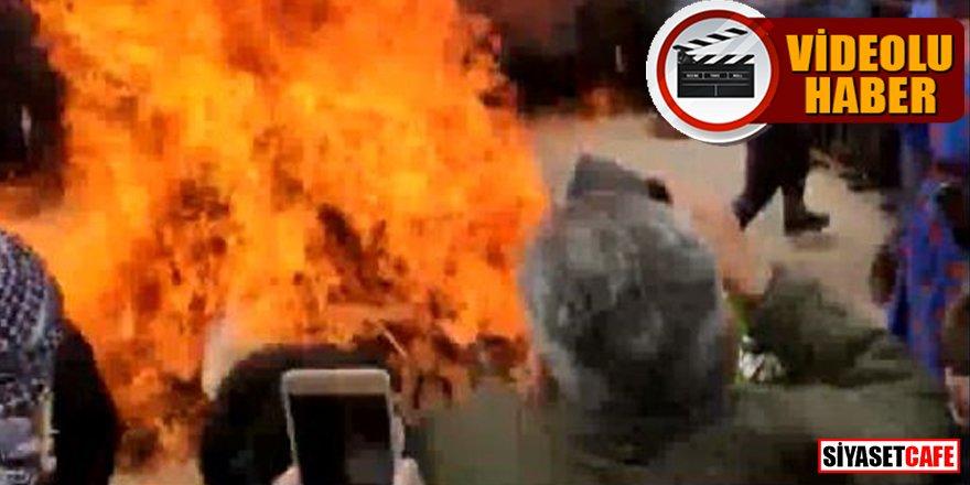 Van'da nevruz ateşi yakarken yanıyorlardı