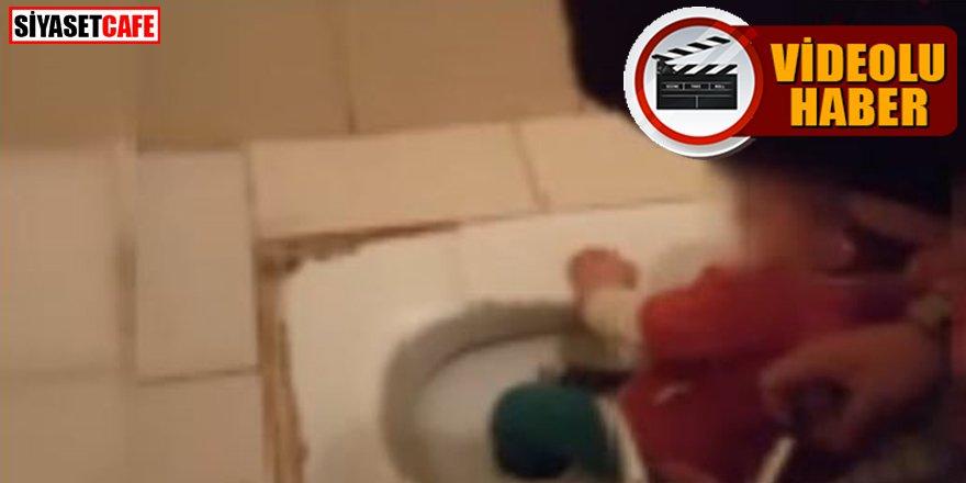 Tuvalete ayağı sıkışan çocuğu itfaiye kurtardı