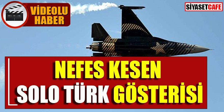 Nefes kesen Solo Türk gösterisi