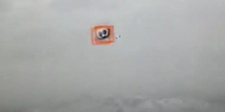 Komandolar saldırı amaçlı balonu böyle vurdular