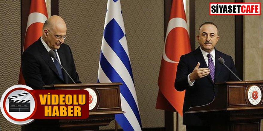 Çavuşoğlu'ndan Dendias'a sert tepki: 'Türk'üm diyeni kabul etmek zorundasınız'