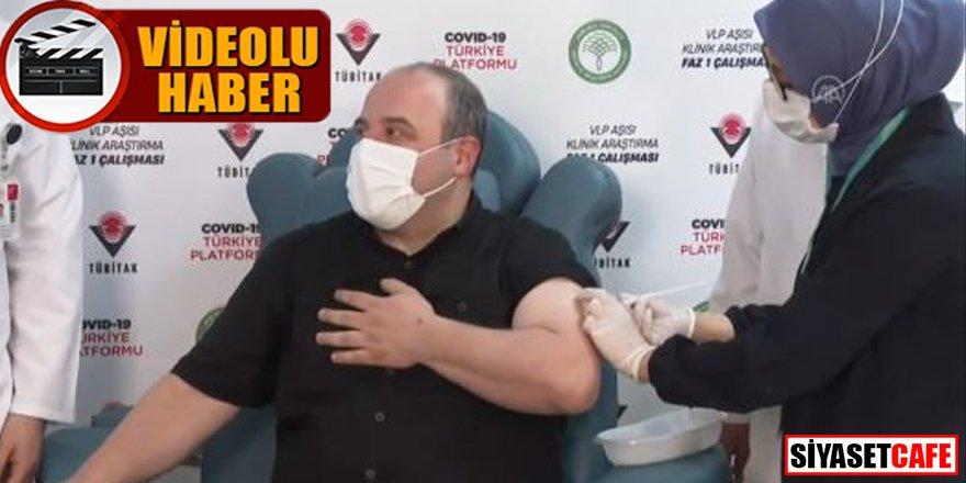 Yerli aşıda flaş gelişme: Bakan Varank ilk dozu canlı yayında yaptırdı