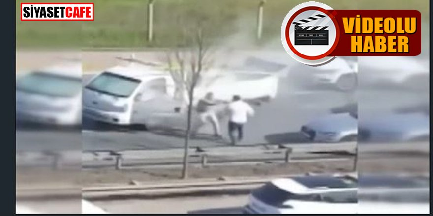 Yol verme kavgasında yangın söndürme tüpüyle saldırdı