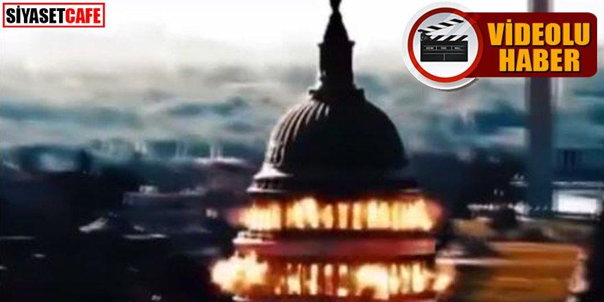İran televizyonlarında propaganda: ABD kongre binasının havaya uçurulduğu görüntüler